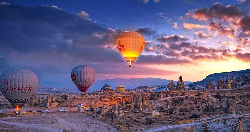 cappadocia sunrise hot air balloon watching tour