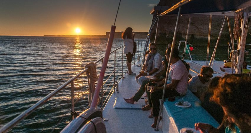 side sunset boat trip