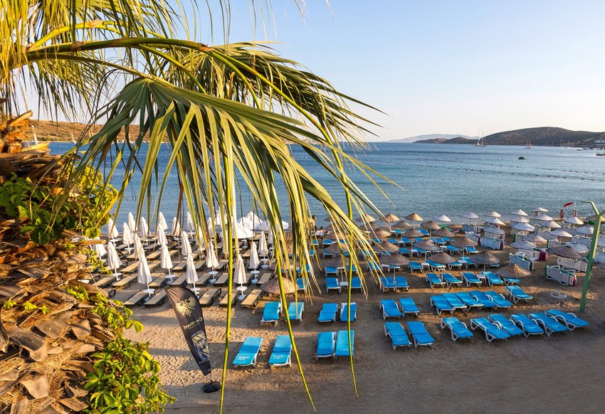 Does Bodrum have a beach?