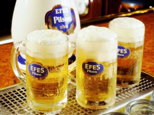 how much is a pint of beer in turkey