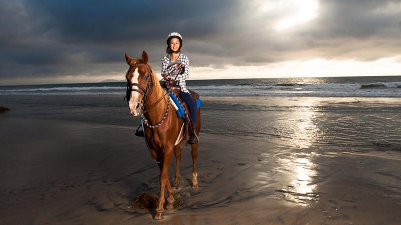 Horseback riding on the beach in Belek Antalya