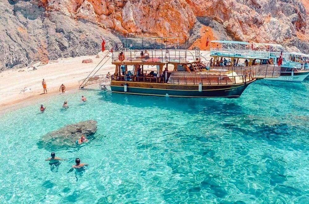 kemer suluada boat trip